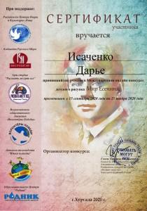 сертификат участника Есенин2